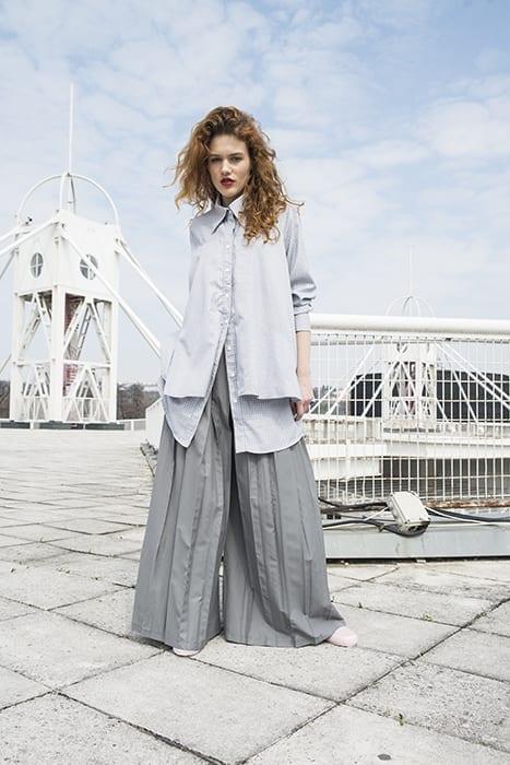 Jupe-culottes (kalhotová sukně) šedivé