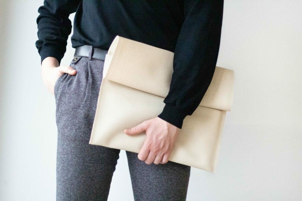 Unisex Leatherette Case Cream