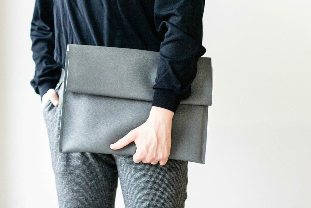 Unisex Leatherette Case Gray