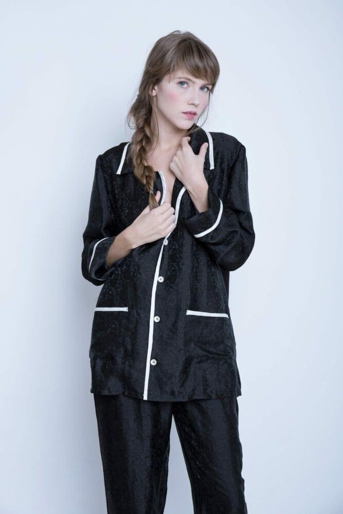 """Pyžamo """"Chanel"""" černé"""