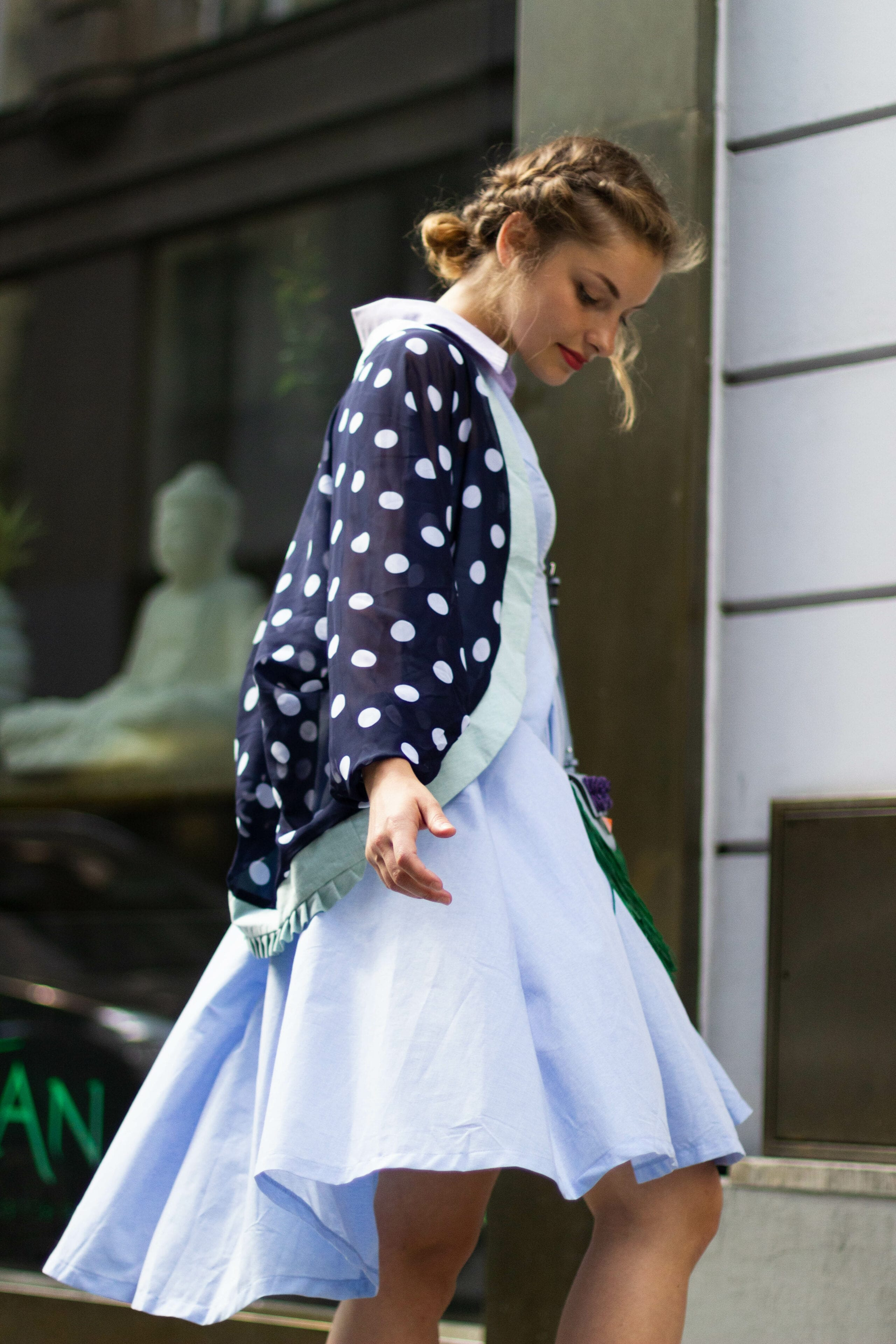 Letní puntíkované kimono