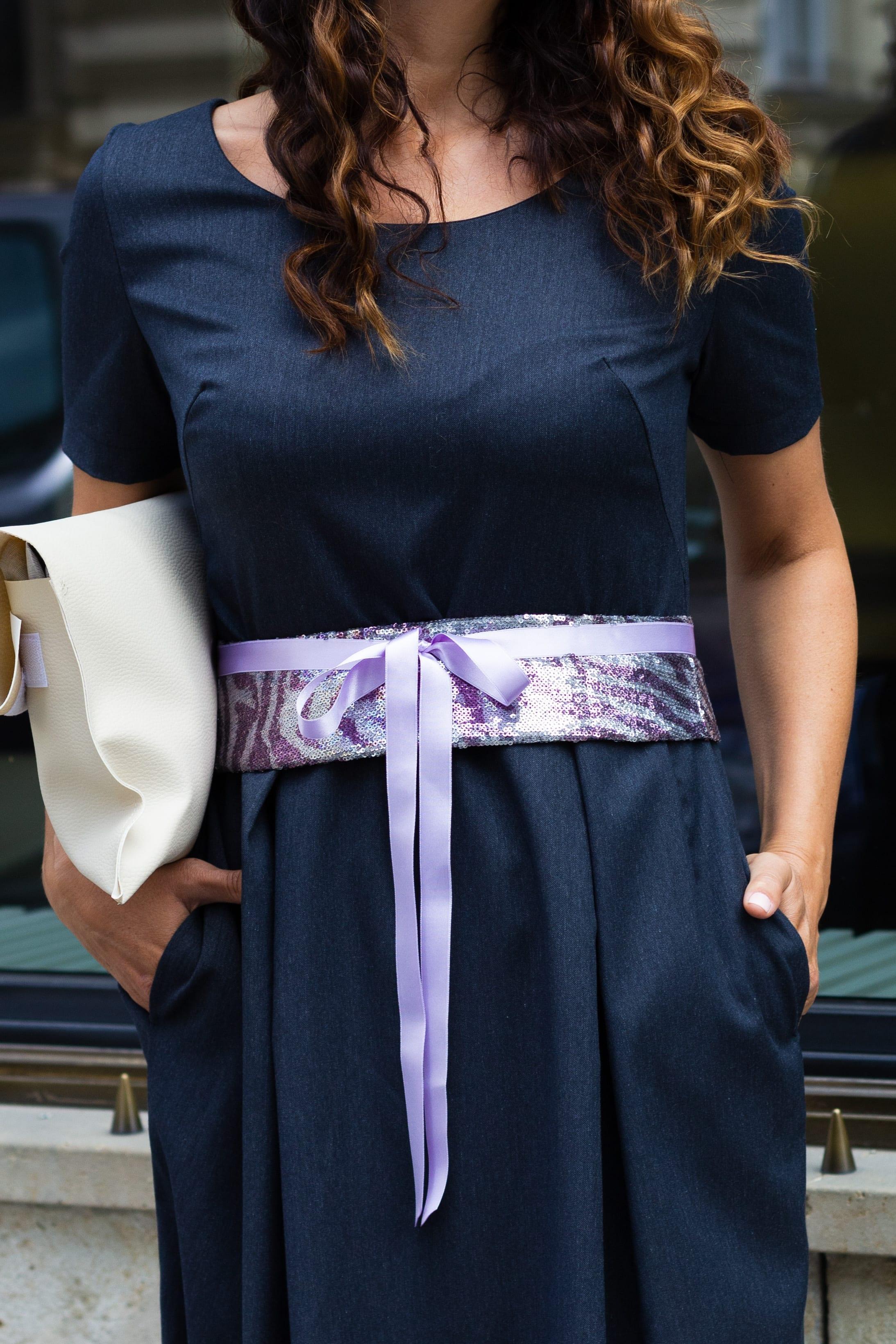 Obi belt Violet
