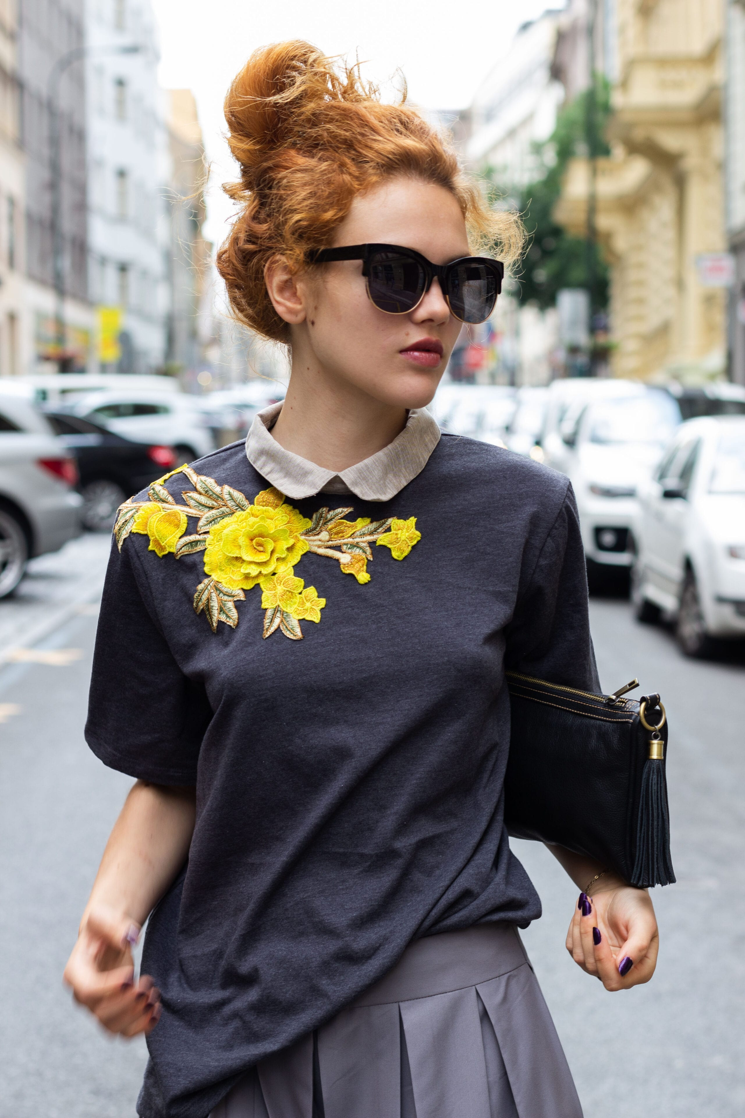 Top with embroidery n.6