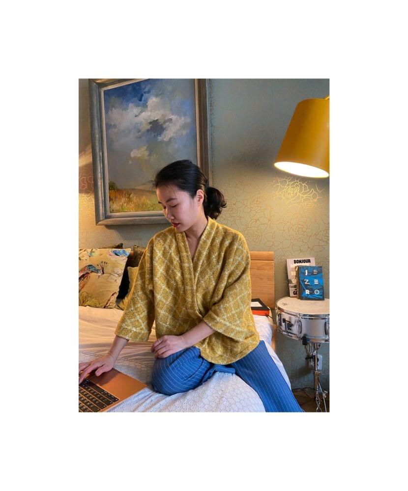 Žluté Kimono kabátek