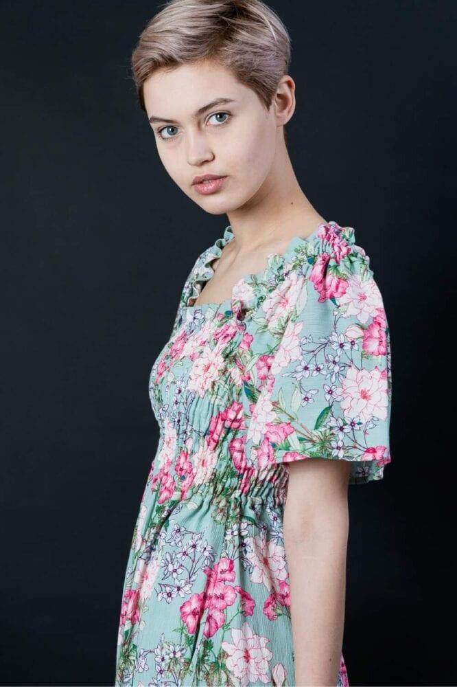 Romantic flowers blouse