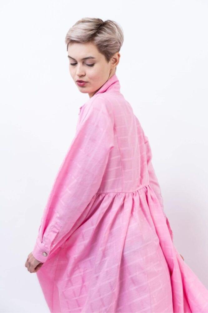 """Košilové šaty """"Pink"""""""