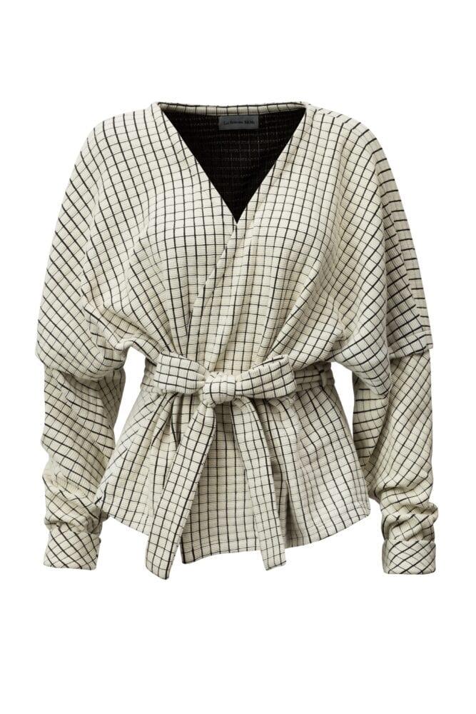 Čtvercový kimono kabátek
