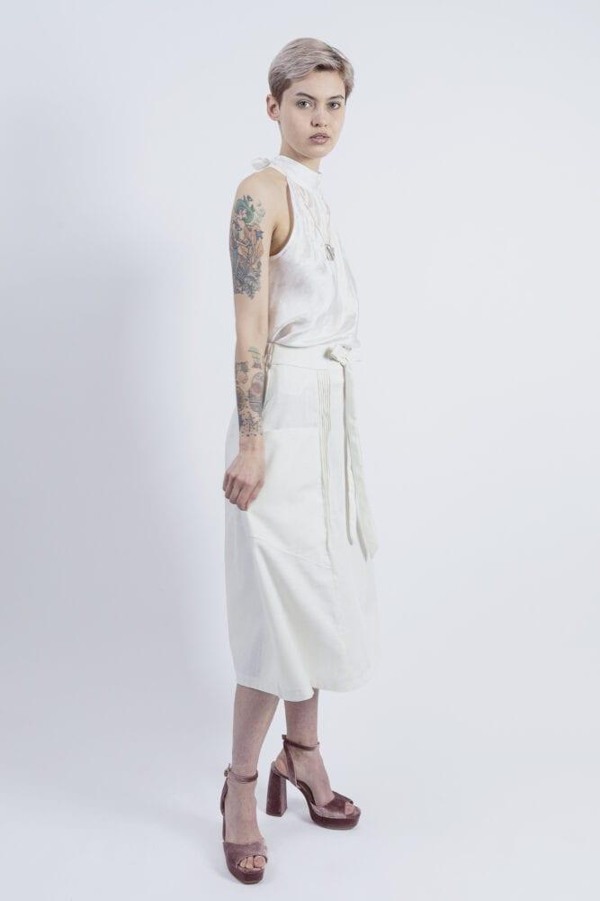"""""""Ivory"""" letní sukně lněná"""