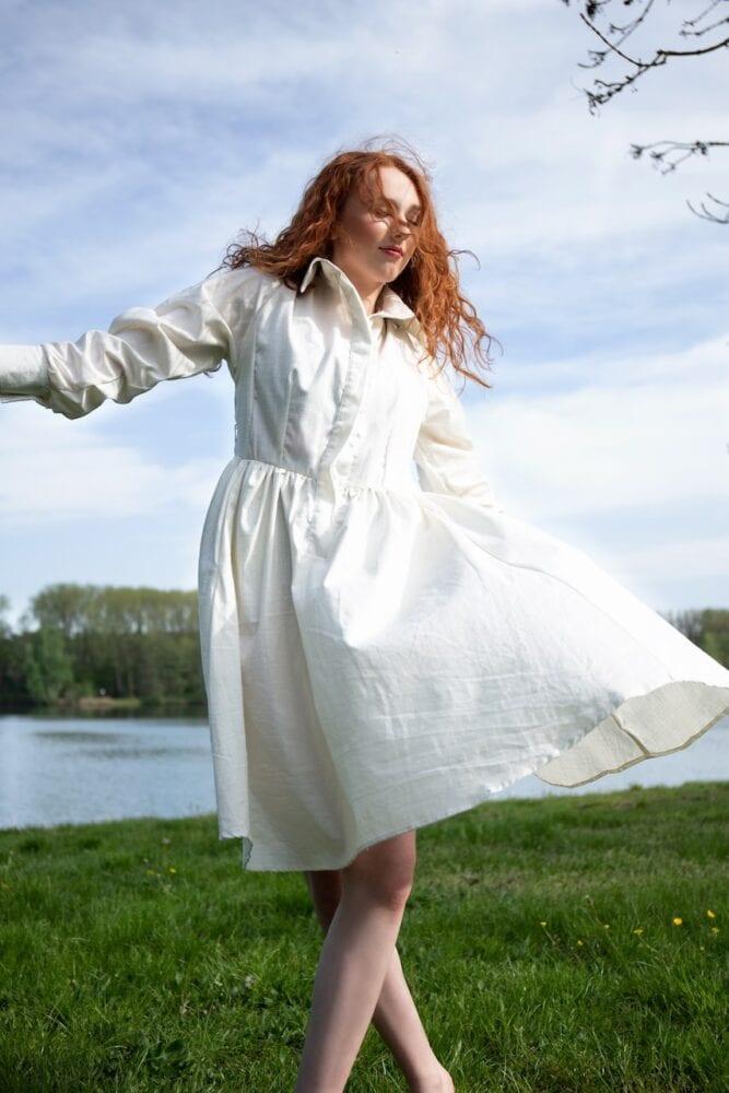 Ivory / off-white šaty