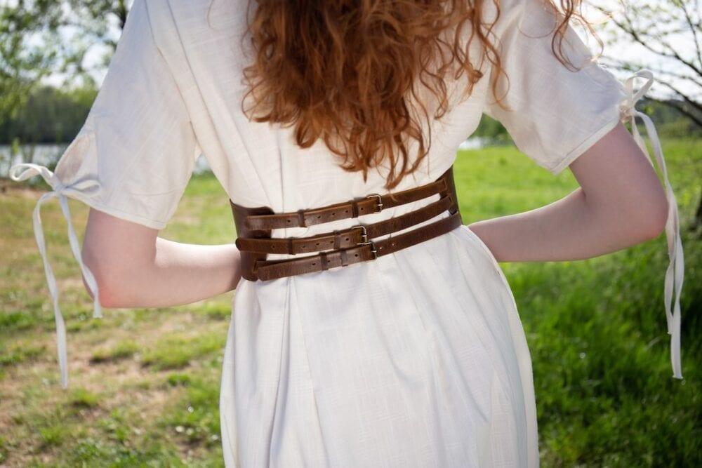 Variabilní kožený pásek – hnědý
