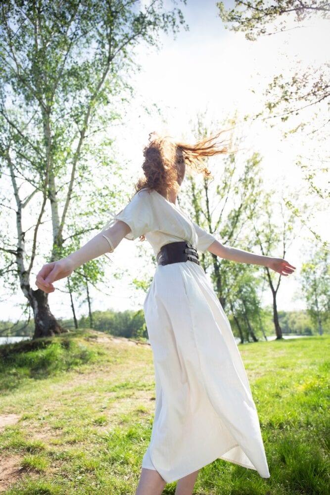 Lněné Ivory šaty