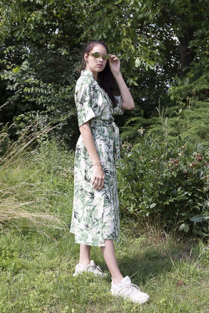 Zavinovací šaty bambusový