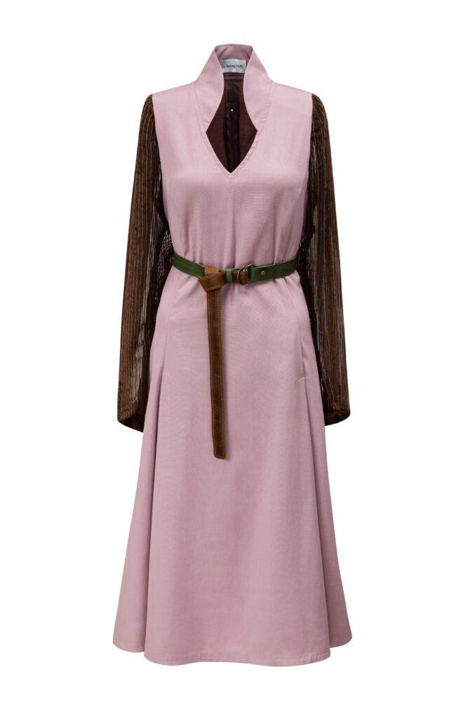 Starorůžové šaty shedvábím